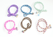 Cool Coloured Snag Free Endless Hair Elastics Bobbles Hair Bands In A Bow With Colourful Ball Ends , set of 6