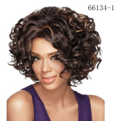 Lovely House Afro Short Curly Mixed Colour Ladies Fashion Full Human Hair Wigs