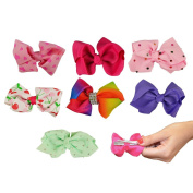 Hair Bows Clips Coloured Girls Baby Kids Beauty Ribbon Accessories 7 days Week