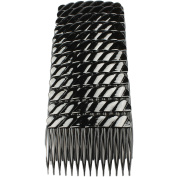 GIZZY® Pack 12 Black 7cm Wide Hair Side combs.