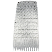 GIZZY® Pack 12 clear 7cm Wide Hair Side combs.