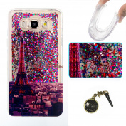 Galaxy J7 (2016) Silicone Skin Case Cover For for Samsung Galaxy J7 (2016) J710, Galaxy J7 (2016) J710 J7 Luxury Case Rainbow Glitter Shiny Glitter Bling Rhinestone TPU Silicone Case Cover for Galaxy (2016) (J710 Cover TPU Soft Case Cover Silicone Protect