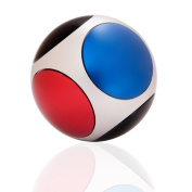 TENACHI Football Ball Sphere High Speed Alloy Gyroscope Focus Toy Stress Reducer Relieve Anxiety and Boredom Black/Blue/Red Ball