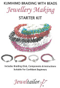Jeweltailor NEW! Complete Kumihimo Braiding With Beads Starter Kit ~ Make Up To 10 Stylish Bracelets ~ With Beadsmith Braiding Disc, Quality Glass Beads, Wire, Guide+ More ~ A Perfect Creative Gift Or Treat