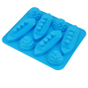 JuneJour Silicone Ice Cube Tray Ship Shaped Ice Maker for Whiskey Cocktail Chocolate Jelly for Christmas