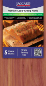 Jaccard 5 Count Premium Cedar Grilling Planks (24 Pack), Small, Brown Cedar Wood