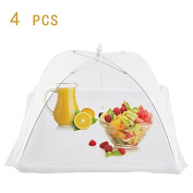 4 PCS Pop Up Mesh Food Cover Tent Reusable Collapsible Net Screen Food Protector for Kitchen Use by Yunhigh