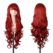 """EmaxDesign Wigs 32"""" 80cm High Quality Women's Cosplay Wig Long Full Spiral Curly Wavy Heat Resistant Fashion Glamour Hair Wig Hairpiece with Free Wig Cap And Comb"""