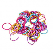 Homgaty 100Pcs Baby Girl Elastic Thin Hair Tie Bands Children Stretchy Ponytail Hair Bands