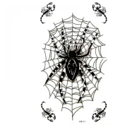 SPESTYLE waterproof non-toxic temporary tattoo stickersWaterproof and sweat temporary tattoos men and women fashion sexy black spider web scorpion