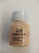 Mehron Liquid Latex ~ Make-up Rubber Milk Effects ~ Light Flesh / Soft Beige 30ml by mehron