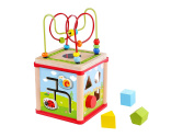 Play Garden Cube 5 in 1 Activity Centre, Shape Sorter, Counting & Beads Maze, Mirror & Coaster *Premium Quality*-Sameday Dispatch-TKF007-S11