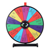 OUTAD 60cm Tabletop Colour Prize Wheel 14 Slots with Dry Erase Trade Show Fortune Spin Game