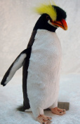 Hansa Realistic Erect Crested Penguin Soft Toy 24cm Tall