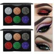 SMTSMT 6 Colours Eye Shadow palettes Shimmer Glitter Eyeshadow Powder Matte Highlighter Eyeshadow Makeup Palette