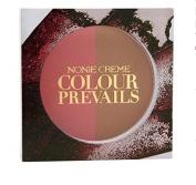 Nonie Creme Colour Prevails Bashful Biscuit Blush / Bronzer Duo, Dusky Peach (Dusky Peach) 5ml