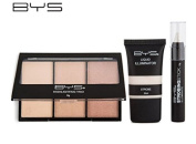 BYS Strobing Kit in Keepsake Tin Strobing Stick Highlighting Trio Palette and Strobing Liquid Illuminator Comes with a Step by Step Tutorial
