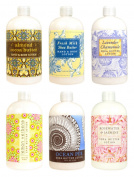 Greenwich Bay Trading Co. Hand & Body Lotion Sampler Set, 60ml, 6 Pack