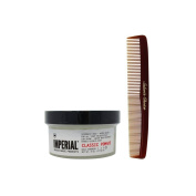 Bundle-2 Items : Imperial Barber Grade Products Classic Pomade, 180ml & Salon's Choice Barber Comb