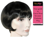 Standard Lulu 1920s Colour Platinum Blonde - Lacey Wigs Flapper Short Bob Louise Brooks Theatrical Chicago Bundle with MaxWigs Costume Wig Care Guide