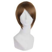 """MapofBeauty 12""""/30cm Men's Short Straight Side Bangs Cosplay Costume Wig"""