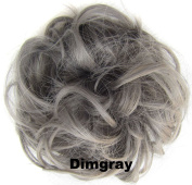 Beauty Wig World Scrunchie Bun Up Do Hair piece Hair Ribbon Ponytail Extensions Wavy Curly or Messy Various Colours Dimgray