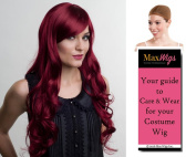Ashli Deluxe Mermaid Sea Siren Colour 1B - Enigma Wigs Women's Nymph Ashley 80cm Long Curly Theatre Quality Bundle with Wig Cap, MaxWigs Costume Wig Care Guide