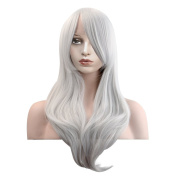 MeriCino Wigs 28'' Long Wavy Curly Wig Heat Resistant Cosplay Wig with Free Wig Cap for Women