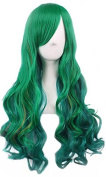 Women's Green Ombre Cosplay Wig Long Curly Hair Heat Resistant Fibre Wigs Harajuku Lolita Sweet Style- QHQ-ShiningLife wig001G