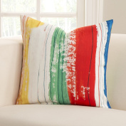 SIScovers Sketchy Stripe Polyester Accent Pillow 16 x 16