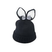 Gloryhonor Winter Baby Beanie Hat Warm Cute Rabbit Ear Bowknot Toddler Knitted Cap Gift