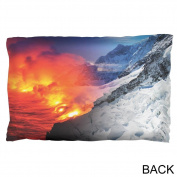 Extreme Nature Adventures Fire And Ice Pillow Case Multi Standard One Size