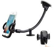 Universal Windscreen Mobile Phone Holder Cradle for car with Long Arm Suction Cup for iPhone X / iPhone 8 / 7 Plus/7/6S Plus/6Plus/6S/6/5,Samsung Galaxy S8 S7 S6 Note 8 /5/4/3, Nokia, LG G6, HTC, Huawei and many Other Smartphone by pjp electronics (lon ..
