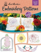 Aunt Martha's Fanciful Flowers Embroidery Transfer Pattern Book Kit by Colonial Patterns, Inc.