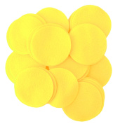 Playfully Ever After 15pc Yellow 10cm Sticky Felt Circles