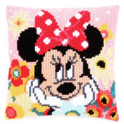 Disney's Minnie Mouse 'Daydreaming' Cross Stitch Cushion Kit
