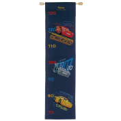 Disney's Cars 'Screeching Tyres' Height Chart Counted Cross Stitch Kit