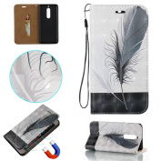 COWX Nokia 5 Book Style PU Leather Case Flip Cover Case Wallet Case Cover With Soft Silicone Holder Case Wallet Protective PU Leather Case for Nokia Nokia 5 Mobile Phone Cover