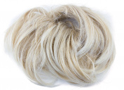 Mytoptrendz® Blonde Mix Fake Hair Scrunchie Elasticated Long Hair Bun Up Do Hairpiece Ponytail Extensions Scrunchy on a Ponio Loop Elastic