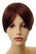 WIG ME UP ® - L008-35 Clip-In Hairpiece Toupée Top Hair replacement auburn dark red brown 4 Clips