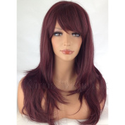 Kims Wigs Burgundy Red Long Soft Layered Heat Resistant Ladies Womens Wig #99J
