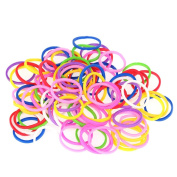 Anself 12 Bags/1200pcs Elastic Hair Bands Rings Ropes Rubber Band Candy Colour Hair Accessory Ponytail Holder