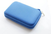 Protective Carrying Case for 6.4cm Portable USB External Hard Disc Drives - Extra Space for Memory Cards and USB cable - Detachable Hand Strap Included
