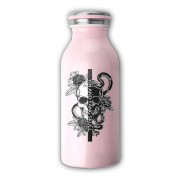 Yin And Yang Tribal Skull Milk Bottle Juicing Containers Water Beverage Bottles Fashion WHENLUCKY