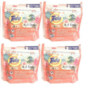 Tide Pods Laundry Detergent 4 in 1 With Downy April Fresh, Pack of 4 x 12 Count