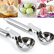 SorlivaScoop Spoon,Stainless Steel Dig Spherical Ball Tool For Ice Cream Fruit Frozen Yoghurt