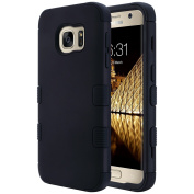 Galaxy S7 Case, ULAK S7 Case Luxury Hybrid 3 Layer Silicone Shell Shockproof Hard Case Cover for Samsung Galaxy S7