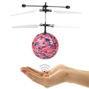 Flying Toy,Flash Flying Ball Infrared Induction Colourful LED Disco RC Helicopter Kids Toy By Dacawin