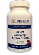 Siberian Ginseng / Reishi / Cordyceps - Lyme support, Immune & Energy Boost and Chronic Illness Support Without Feeding Lyme or Other Pathogens / High Quality Herbal Extract Powder / Doctor Formulated