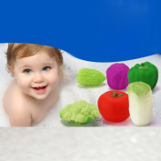 Dragon868 6pcs Baby Appealing Soft Rubber Vegetables Float Sound Baby Wash Bath Play Toys Baby Bath Toy